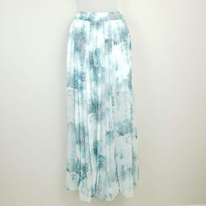 Mossimo Watercolor Abstract Lined Maxi Skirt